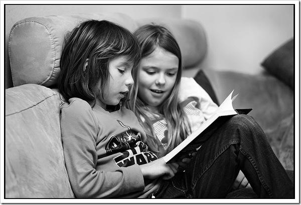 Boy & Girl Reading