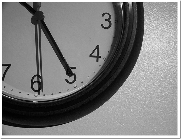 our summer schedule clock