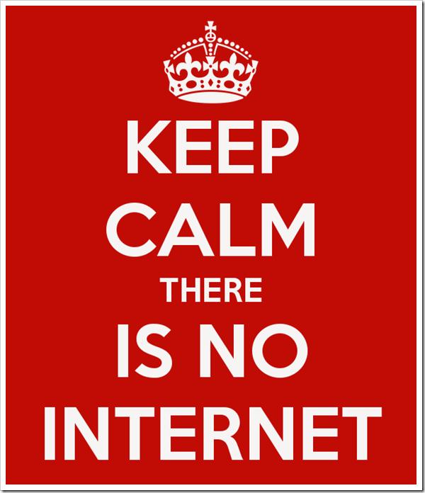 Keep Calm-No Internet