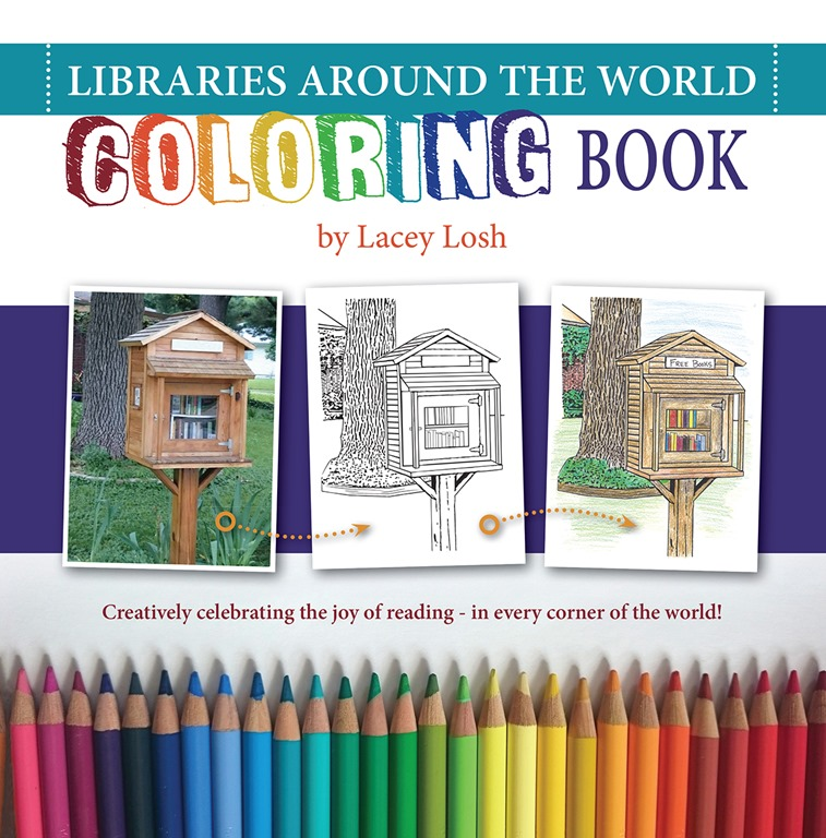 Libraries Around the World Coloring Book by Lacey Losh ...